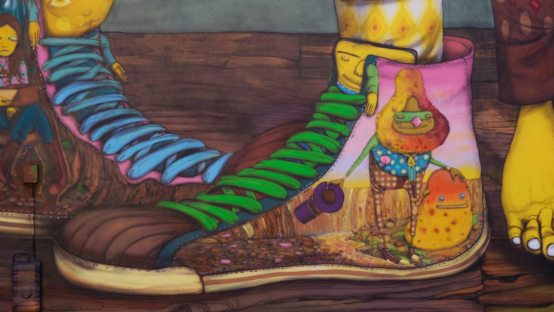 Arte urbano de Os Gemeos en Estocomo