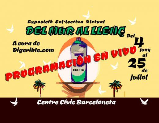 Exposición colectiva virtual DEL MUR AL LLENÇ