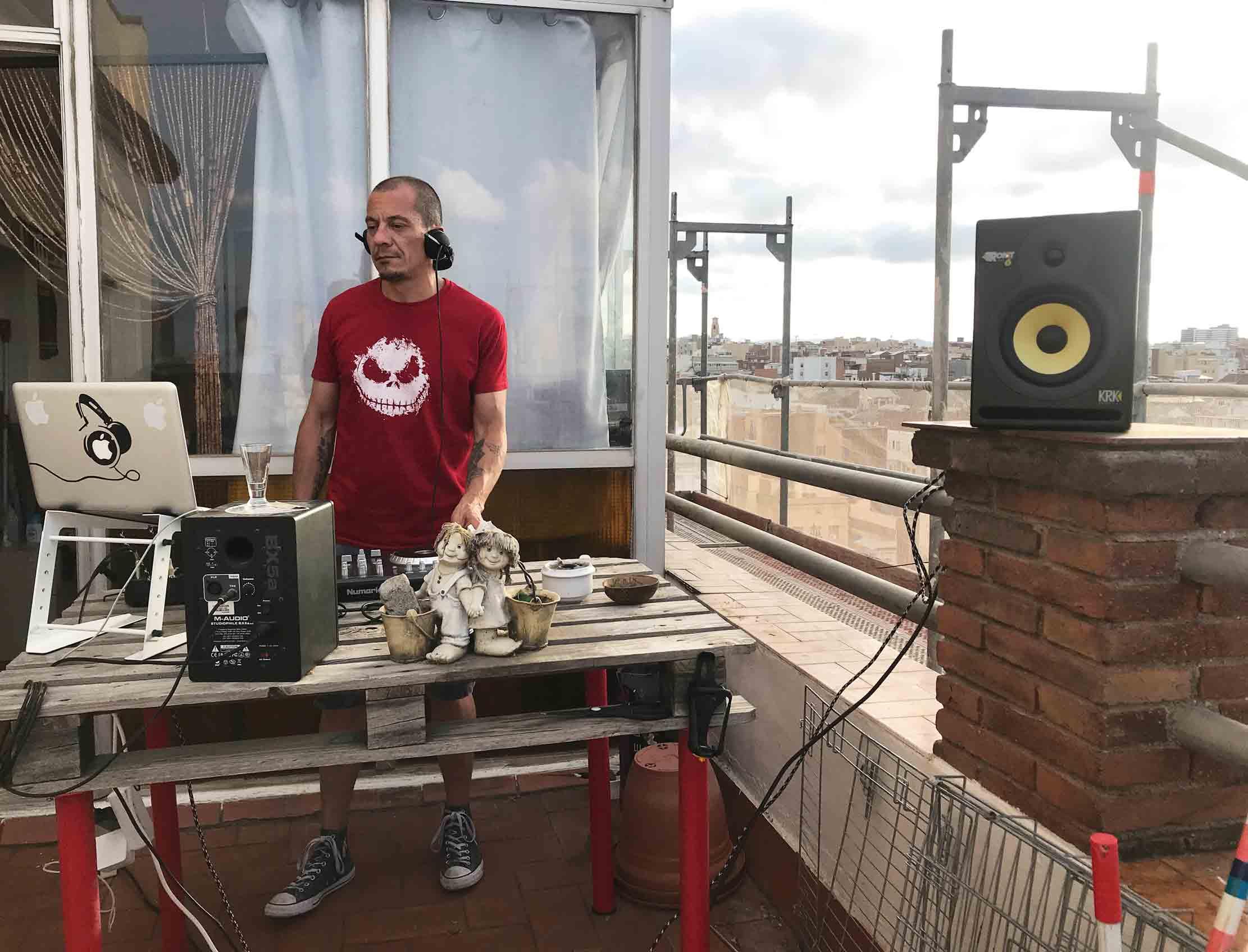 arte urbano dj sesión música en vivo