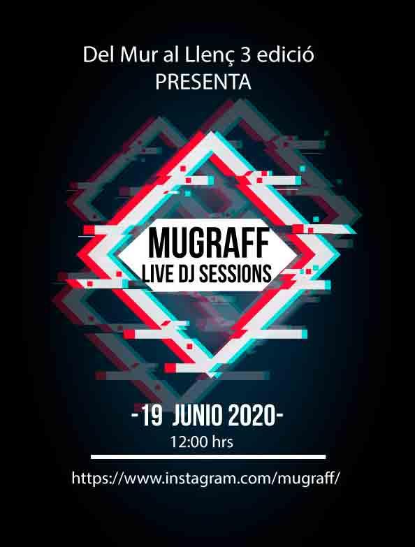 arte urbano dj sesión música en vivo Mugraff