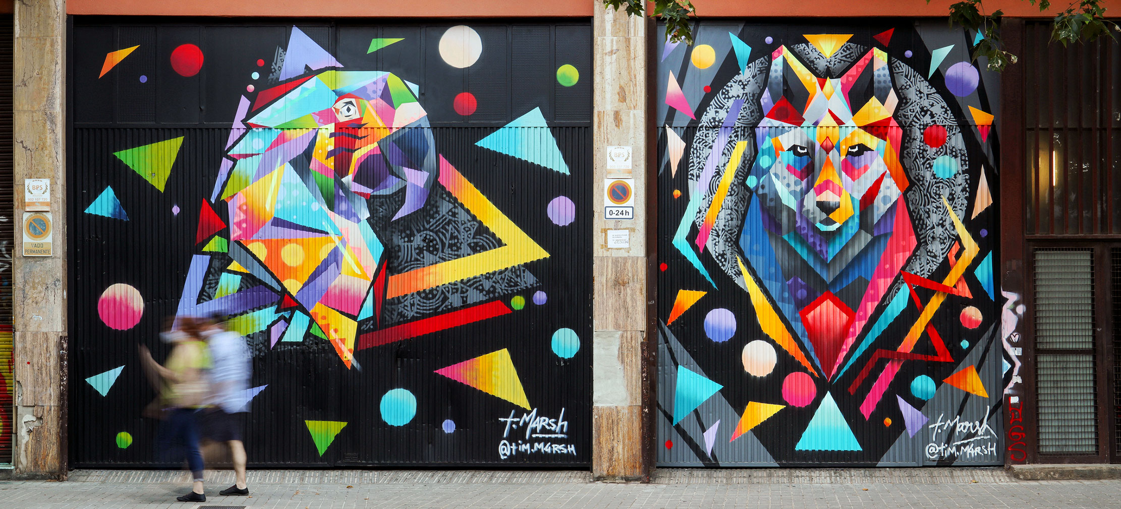 """Arte urbano de Tim Marsh Exposición Colectiva Virtual """"Del Mur al Llenç"""""""