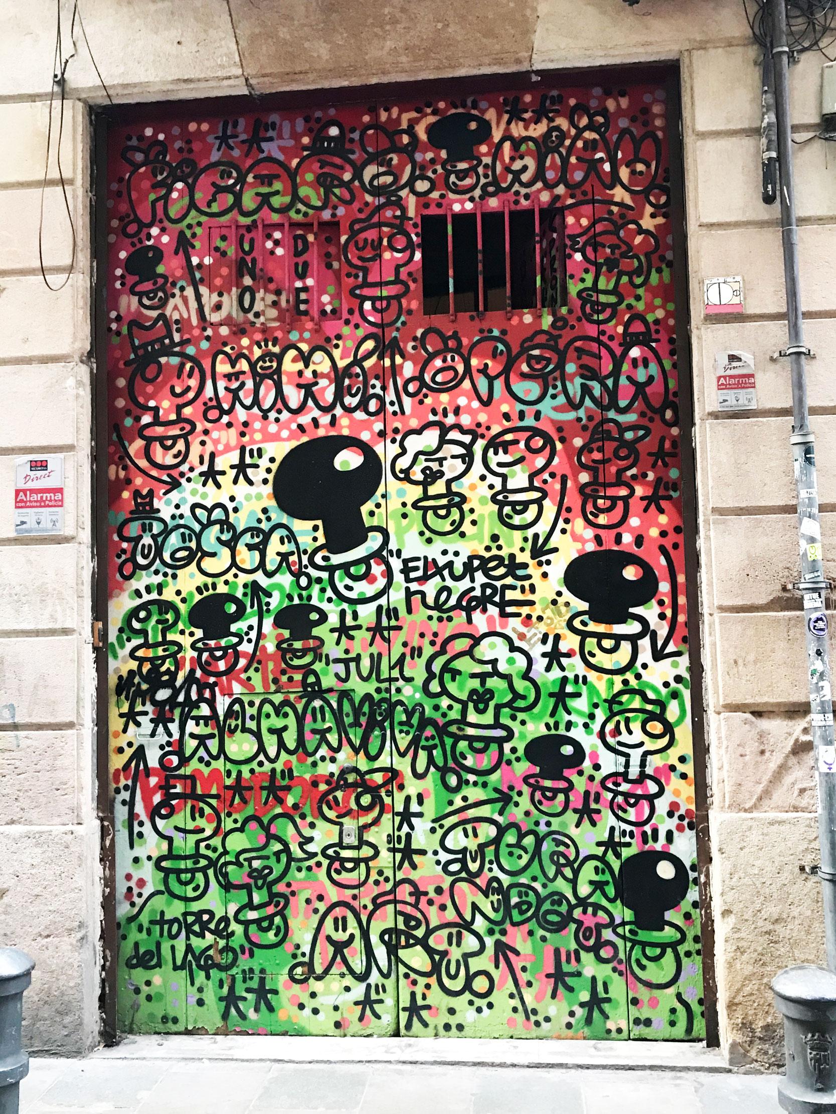 """Arte urbano de EL Xupet Negre Exposición Colectiva Virtual """"Del Mur al Llenç"""""""