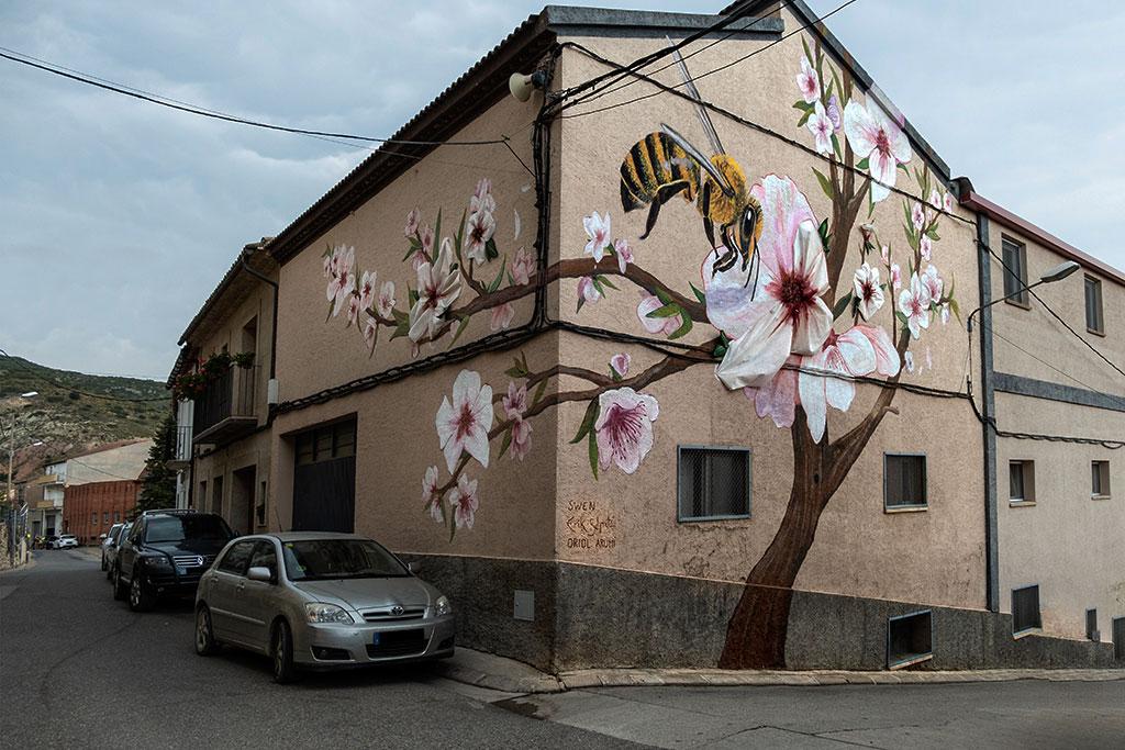 Arte urbano en Os de Balaguer Oriol Arumí, Erik Schmitz Coll y Swen Schmitz Coll