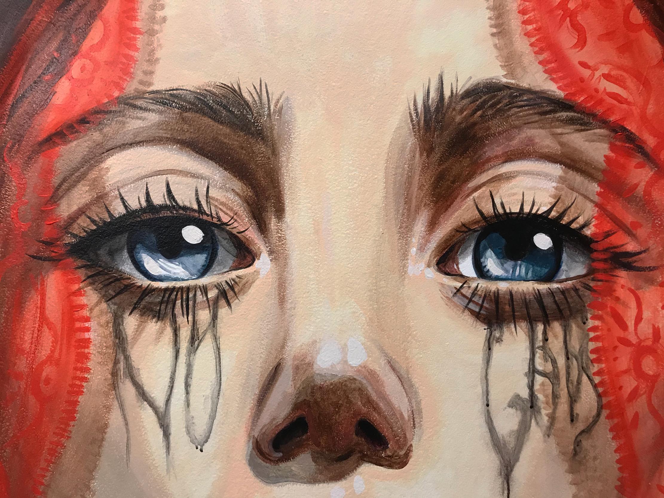 arte urbano recién pintado, badalona