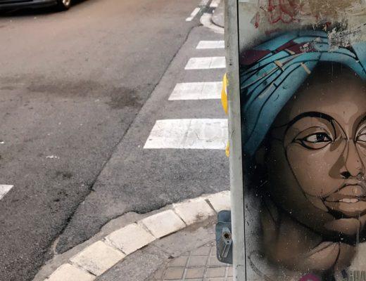 arte urbano guaté mao en la barceloneta