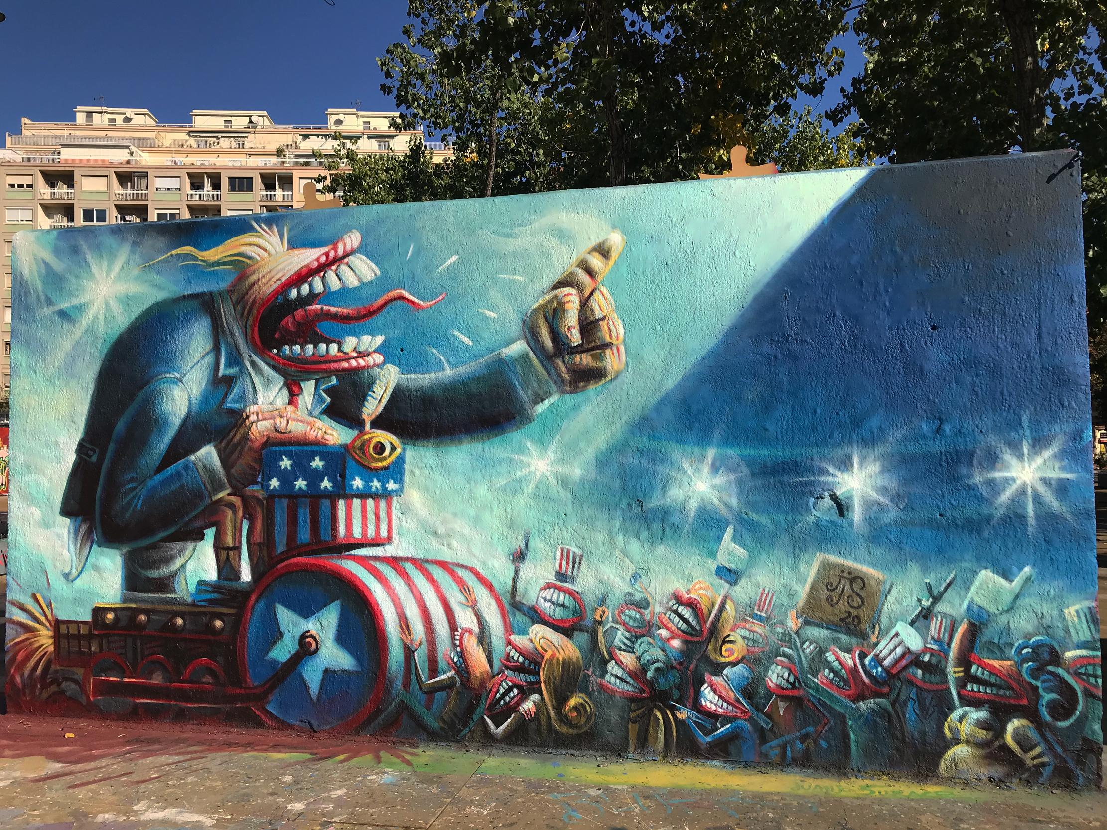 arte urbano juanjo surace elecciones usa 2020