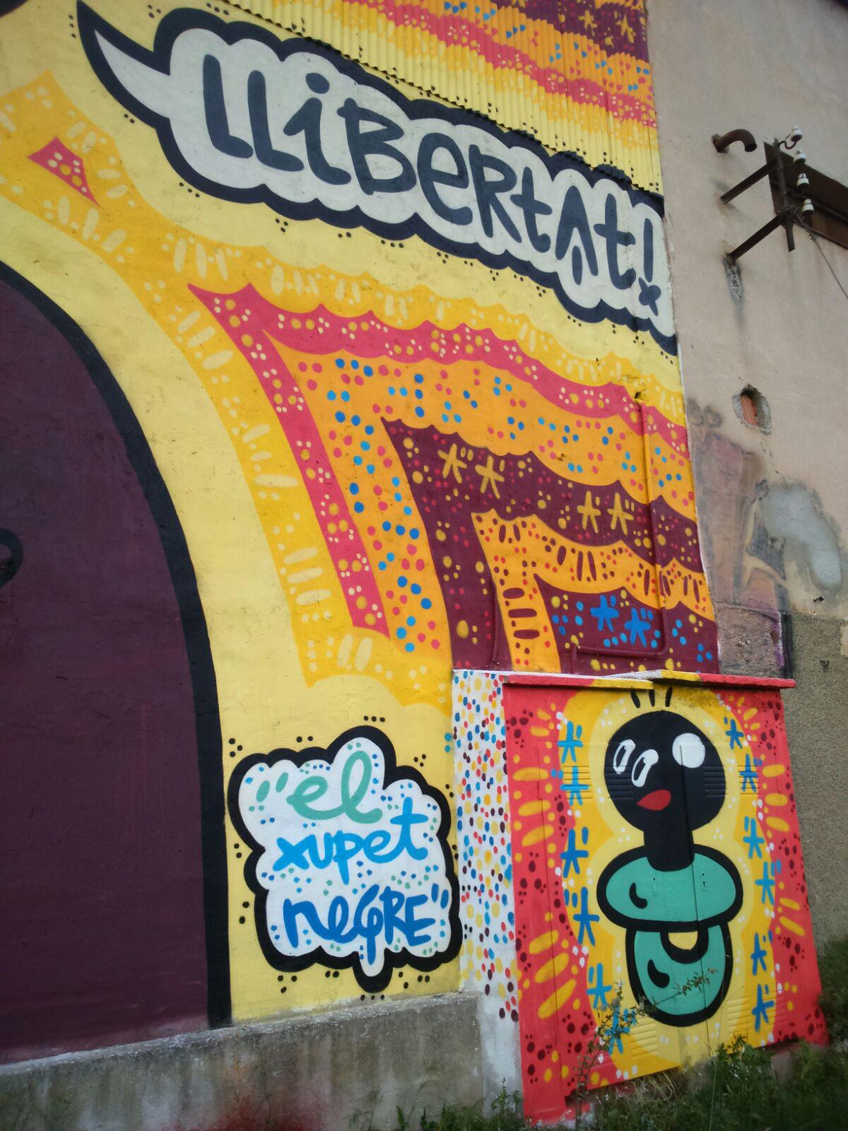arte urbano el xupet negre en Terrassa
