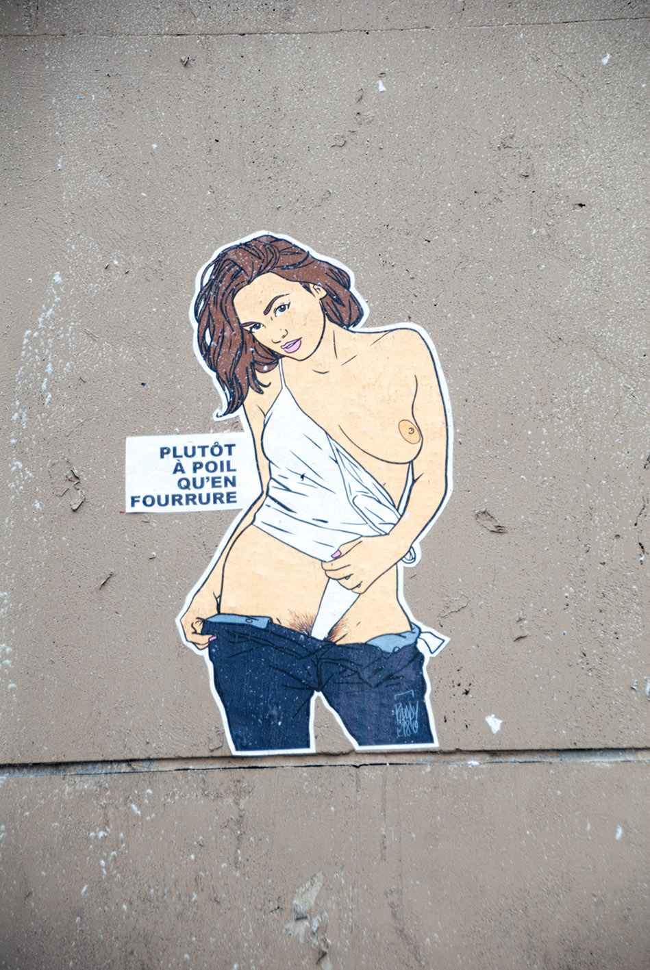 arte urbano Paddy, Francia - París