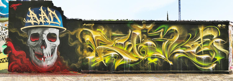 arte urbano bad1 & bublegumr