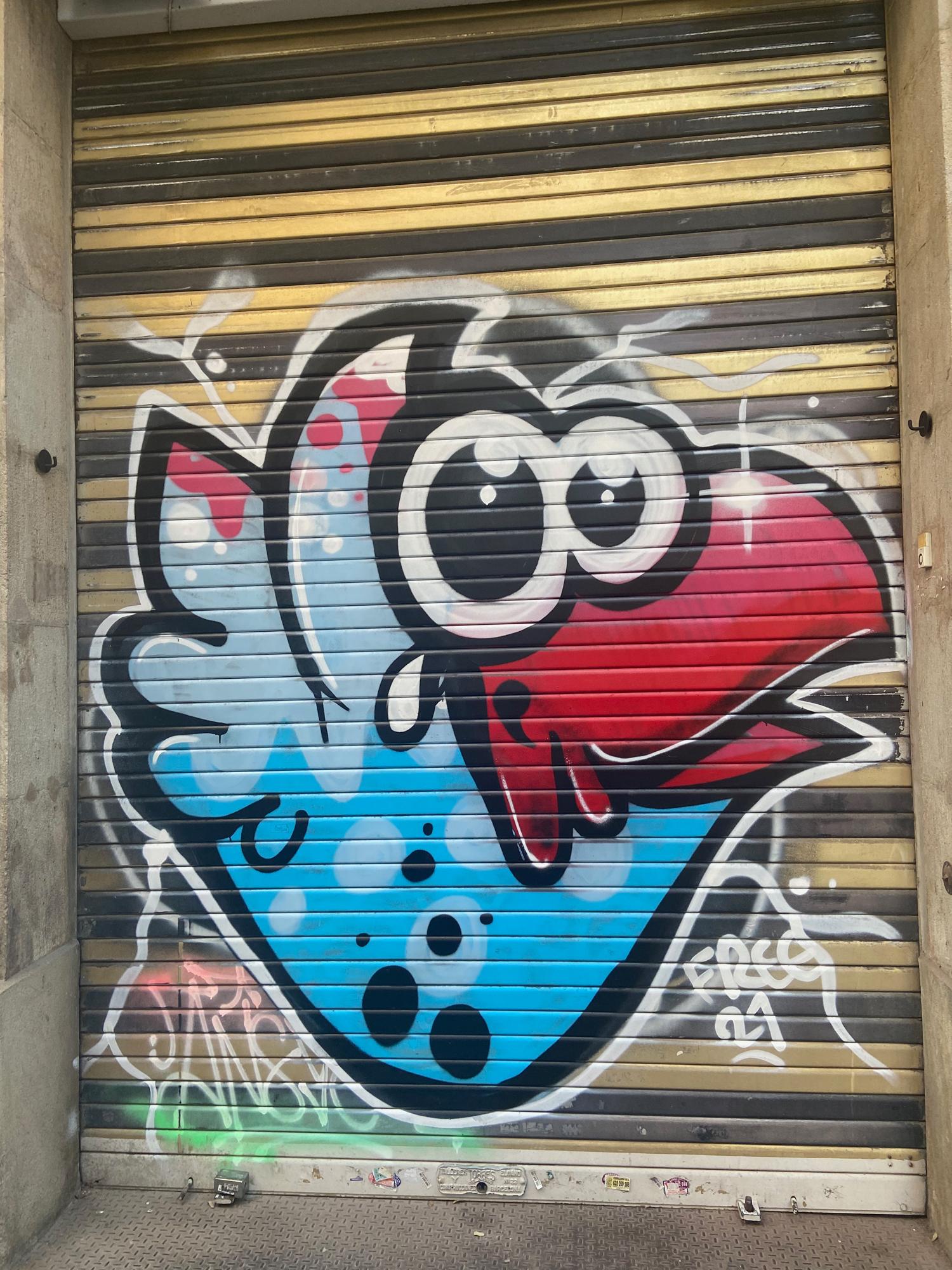 Arte urbano de Freebirds en Barcelona