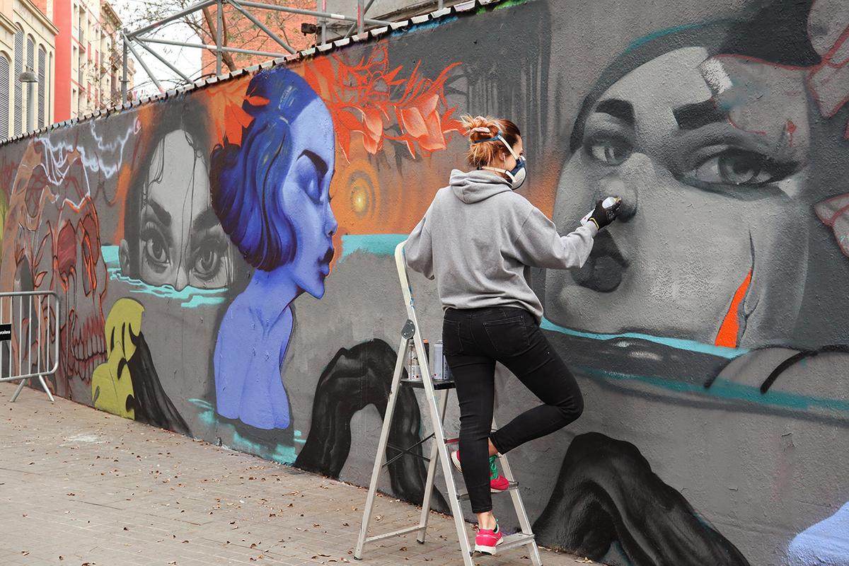 arte urbano Turquesa & Mr. zart Barcelona