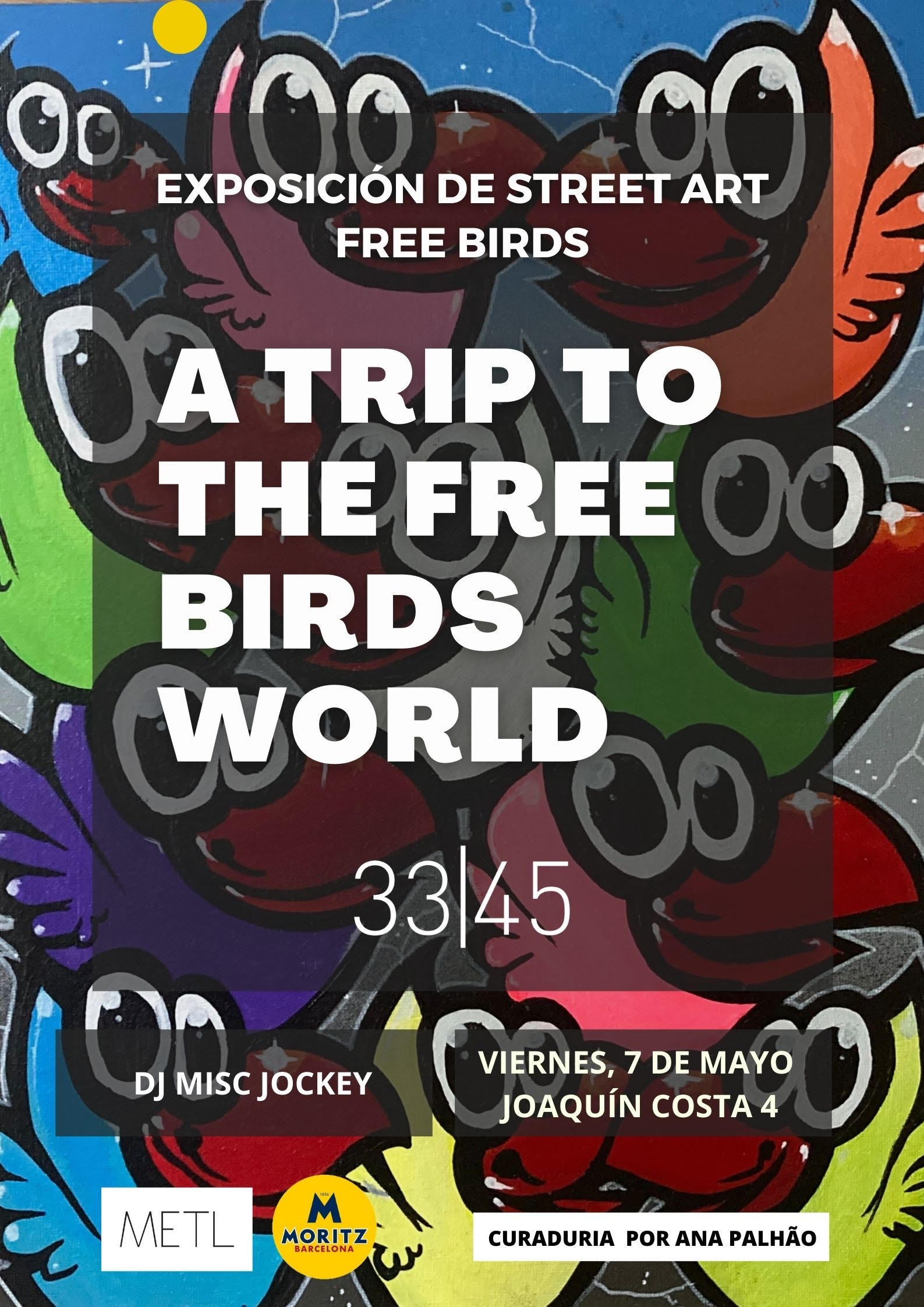 arte urbano exposición de arte Freebirds barcelona