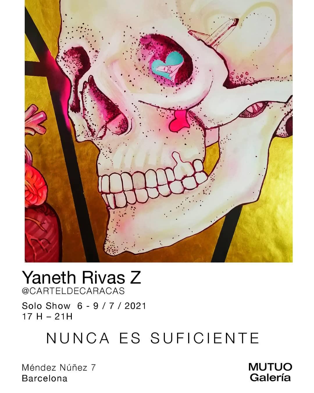 Arte urbano, exposición de arte Yaneth Rivas en la sala Mutuo – Barcelona