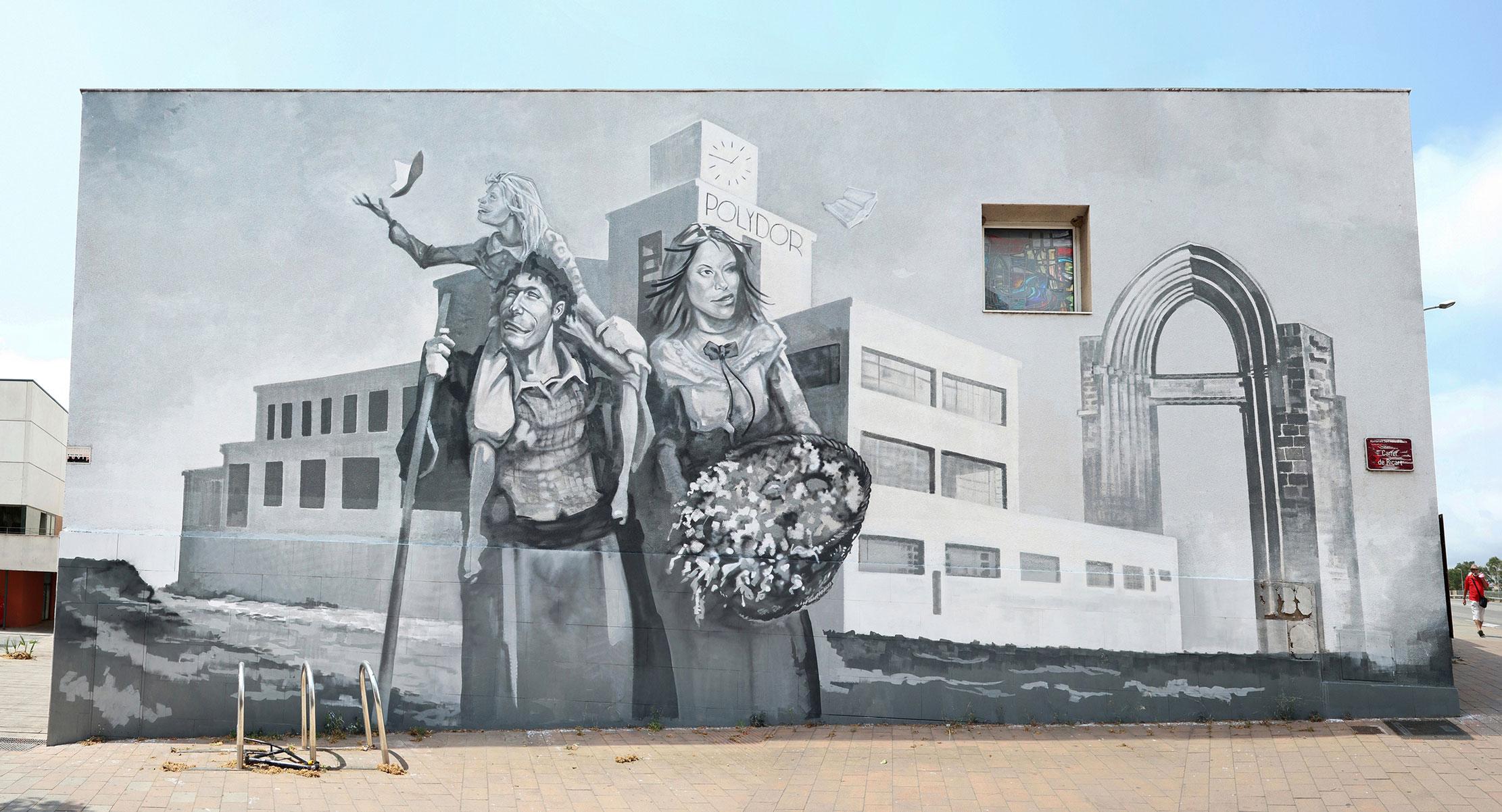 Reb.mwc en Sant Adrià de Besòs, arte urbano
