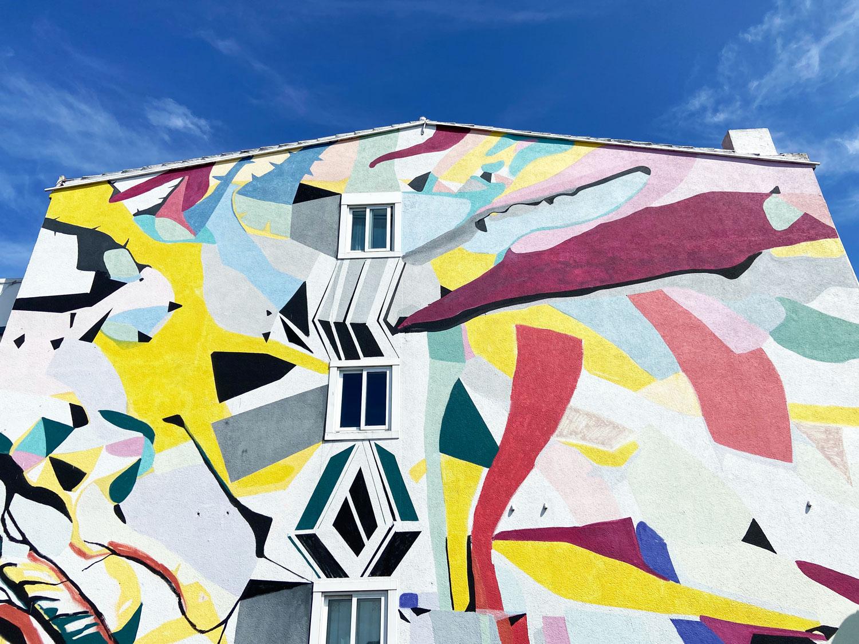 Arte urbano Paula Fraile en Perillo, La Coruña